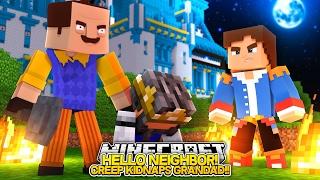 getlinkyoutube.com-HELLO NEIGHBOR, CREEP KIDNAPS & BEATS UP OUR GRANDAD!! - Little Donny Minecraft Custom Roleplay.