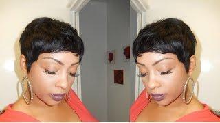 PIXIE SHORT WIG USING 27 PIECE HAIR!!!!/TUTORIAL