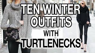 getlinkyoutube.com-10 WINTER OUTFITS WITH TURTLENECKS! FT EVELINA