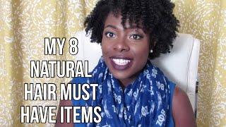 getlinkyoutube.com-My 8 Natural Hair Must Have Items | - JenellBStewart