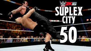 getlinkyoutube.com-WWE 2K16 Brock Lesnar Suplex City 50!