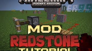 TUTORIAL MOD REDSTONE | PARA MINECRAFT PE 2016
