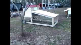 getlinkyoutube.com-DIY Build a Chicken Tractor for Standard Breed Chickens Part 5 Final Video