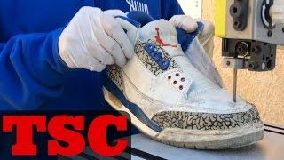 getlinkyoutube.com-The Sneaker Chop Jordan True Blue 3 Real Vs. Fake
