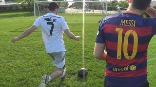 getlinkyoutube.com-Cristiano Ronaldo vs. Messi - Training | In Real Life!