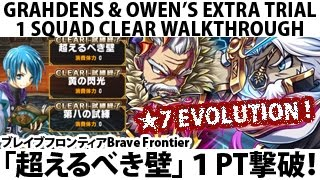 getlinkyoutube.com-【ブレイブフロンティア】試練「超えるべき壁」1PT撃破! Brave Frontier Grahdens Owen EX Trial (Breaking Barriers) 1 Squad Clear