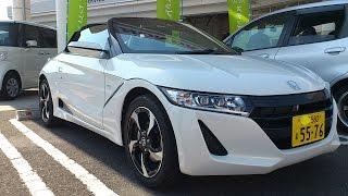 getlinkyoutube.com-Honda S660 エンジン・ルーフ・運転席などをチェックしてきた