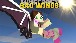 getlinkyoutube.com-Minecraft: SWORD ART ONLINE WINGS! (THE ULTIMATE FLYING RACE!) Mod Showcase