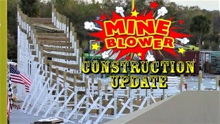 Fun Spot America (Kissimmee) Mine Blower Construction Update 2.24.17 Double Down & More!