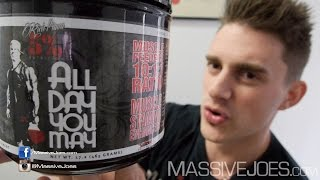 getlinkyoutube.com-Rich Piana 5% Nutrition All Day You May Recovery Supplement - MassiveJoes.com RAW REVIEW Australia