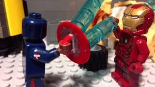 getlinkyoutube.com-Lego Captain America: Civil war stop motion animation re-uploaded