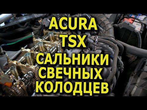 Замена сальников свечных колодцев и прокладки клапанной крышки в Acura TSX