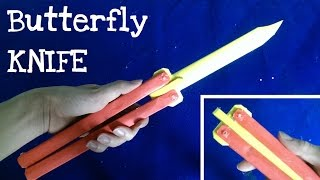 getlinkyoutube.com-How to make a Paper Butterfly Knife ★ Balisong ★ Very simple