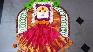 mahalaxmi rangoli/ dussehra special rangoli/navratri kolam by latest rangoli