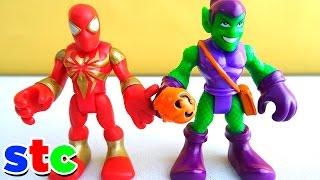 getlinkyoutube.com-Iron Spider vs Duende Verde Version Halloween