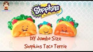 getlinkyoutube.com-DIY Crafts - Jumbo Size Shopkins Taco Terrie