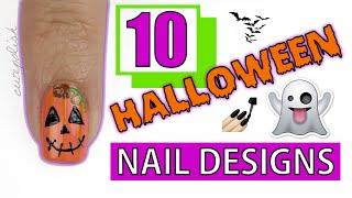 getlinkyoutube.com-10 Halloween Nail Art Designs You HAVE To Try!