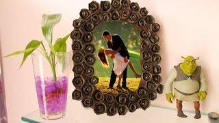 getlinkyoutube.com-DIY Portaretrato con rosas de cartón de huevos - En 5 minutos o menos
