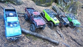 getlinkyoutube.com-RC ADVENTURES - Group Trailing - Scale 4x4 Trucks out Blazing Trails..