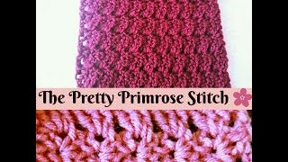 Easy Crochet - How to make The Primrose Stitch - Scarf ( Step by Step Tutorial )  ♥ Pearl Gomez  ♥