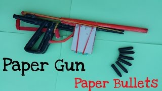 getlinkyoutube.com-How to make a Paper Gun that shoots with 7 Paper bullets | Creative paper