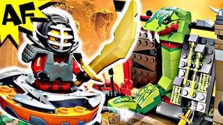 getlinkyoutube.com-NINJA TRAINING & Spinjitzu Battle 9558 Lego Ninjago Stop Motion Set Review