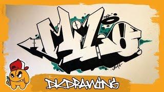 getlinkyoutube.com-How to draw graffiti names - Milo #26