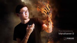 getlinkyoutube.com-Fire Photo Manipulation | Speed Art
