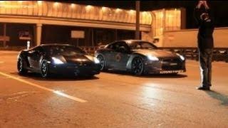 getlinkyoutube.com-Lamborghini Gallardo UR TT vs Nissan GTR AMS Alpha 12 (360 km/h)  (224 MPH)