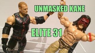 WWE ACTION INSIDER: UNMASKED Kane Elite series 31 Mattel Wrestling Figure Toy Review