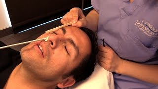 getlinkyoutube.com-Victor's Trip to Contour Dermatology's Spa! Men Need Waxing Too!