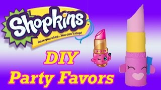 getlinkyoutube.com-DIY How to Make Shopkins Birthday Party Favors Lippy Lips Cake Topper Decoration