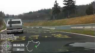 getlinkyoutube.com-DSK 04.04.2012 Nordschleife Porsche 996 hinter VW Bus T3 mit Porsche Motor
