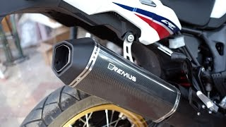 AFRICA TWIN SOUND TEST. ( REMUS VS STOCK EXHAUST )