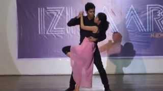 getlinkyoutube.com-Couple dance (3rd year) @Izhaar 2K15 Thapar University
