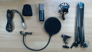 getlinkyoutube.com-Neewer NW-700 Condenser Microphone & NW-35 suspension arm kit review