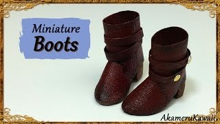 getlinkyoutube.com-Miniature Doll Boots - Polymer Clay/Fabric Tutorial