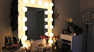 getlinkyoutube.com-D.I.Y HOLLYWOOD VANITY MIRROR UNDER $100