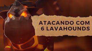 getlinkyoutube.com-Clash of Clans - Como atacar com LAVAHOUNDS - Clã Alliance BR