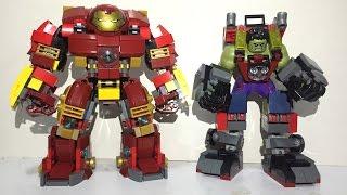 getlinkyoutube.com-LEGO Hulk Armor VS Hulkbuster custom moc led