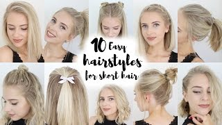 getlinkyoutube.com-10 Easy Hairstyles for SHORT Hair
