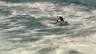 getlinkyoutube.com-Buddy Boston Terrier dog - Water Skiing