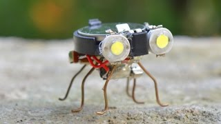 getlinkyoutube.com-How to make a Robot - Tiny Bug Robot at Home
