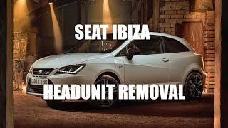 getlinkyoutube.com-Seat Ibiza Headunit Stereo Removal Mk5 2012