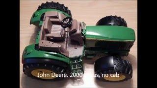 getlinkyoutube.com-Bruder tractor John Deere 2000 series, converted to RC model, low price