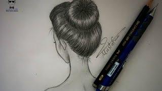 getlinkyoutube.com-تعلم رسم الشعر بالرصاص بتسريحة الكعكة للمبتدئين