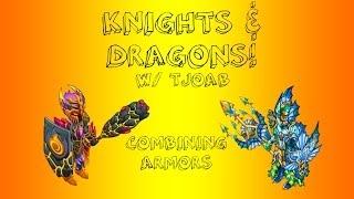getlinkyoutube.com-Knights and Dragons #1: EPIC GLITCH & Combining Armors w/ TJoab