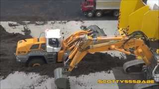 Rc Construction @ Leyland September 2015. Rc Hydraulics Rc Wheel loader Premacon Wedico Tamiya