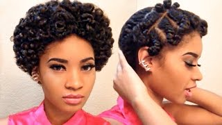 Flat Twistout: On Short Natural Hair (NO SOUND)