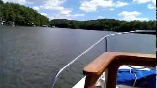 First ride on our 1973 Boston Whaler Nauset on Lake Lanier